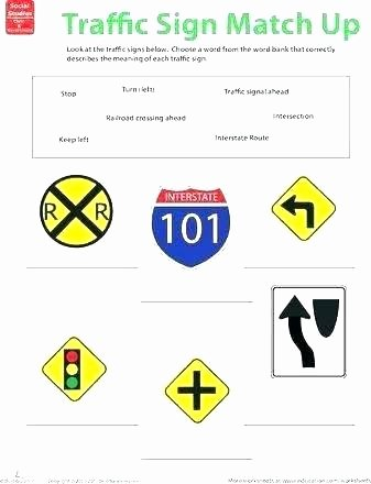 Safety Signs Worksheets Free Munity Signs Worksheets