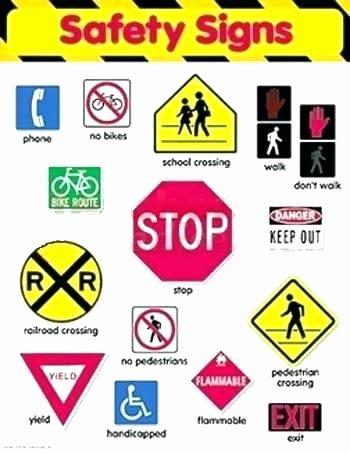 Safety Signs Worksheets Free Pedestrian Safety Worksheets Worksheet for Kids and