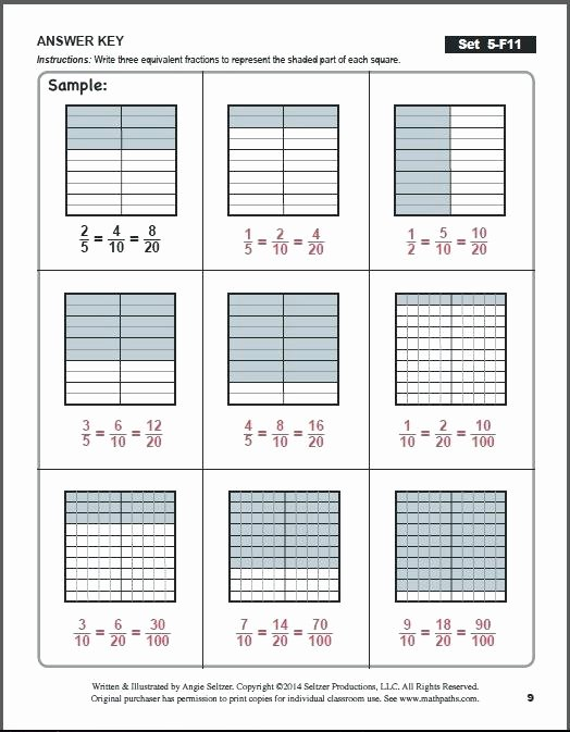 Salamander Math Worksheet Equivalent Fractions Answers Math Close Math Salamanders