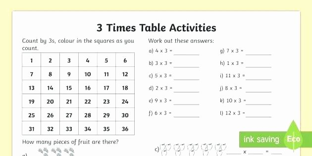 Salamander Math Worksheet Times Tables Quiz Math Table Practice Drill Worksheets