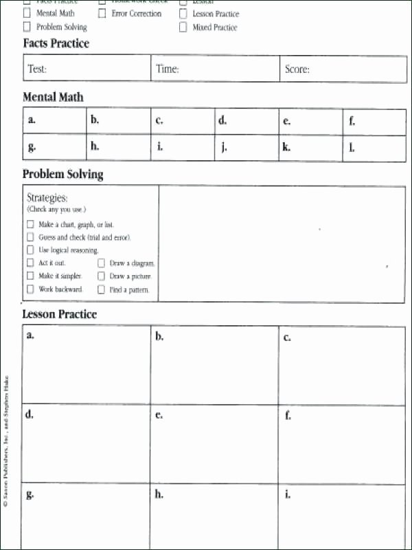 Saxon Math Second Grade Worksheets Saxon Math Second Grade Worksheets