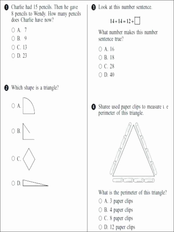 Saxon Math Worksheets 4th Grade 4th Grade Test Prep Worksheets