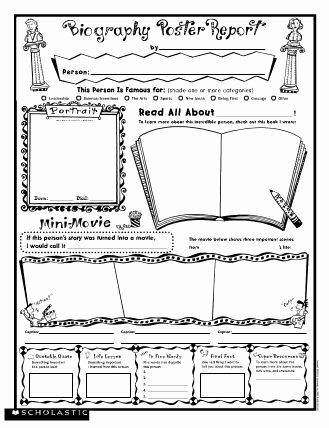 Scholastic Biography Poster Biography Poster Report Free Printable From Scholastic