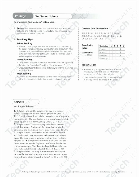 not rocket science text questions printable texts and skills sheets see inside image scholastic science world magazine worksheets