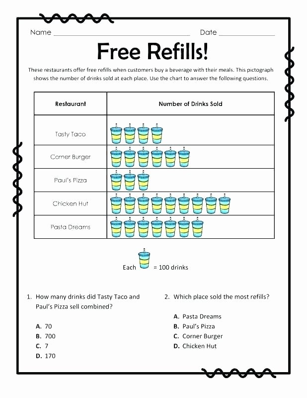 Science 7th Grade Worksheets First Grade Graphing Worksheets