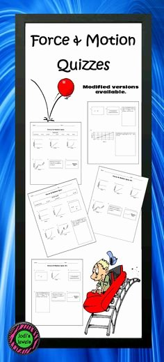 Science force and Motion Worksheets forces and Motion Worksheets Unique Science Energy