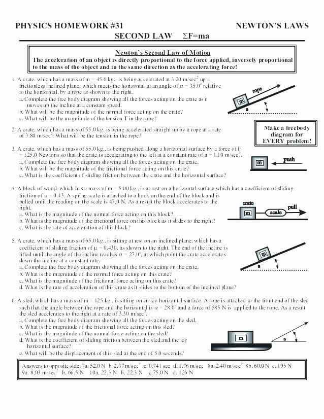 Science force and Motion Worksheets Free Printable force and Motion Worksheets