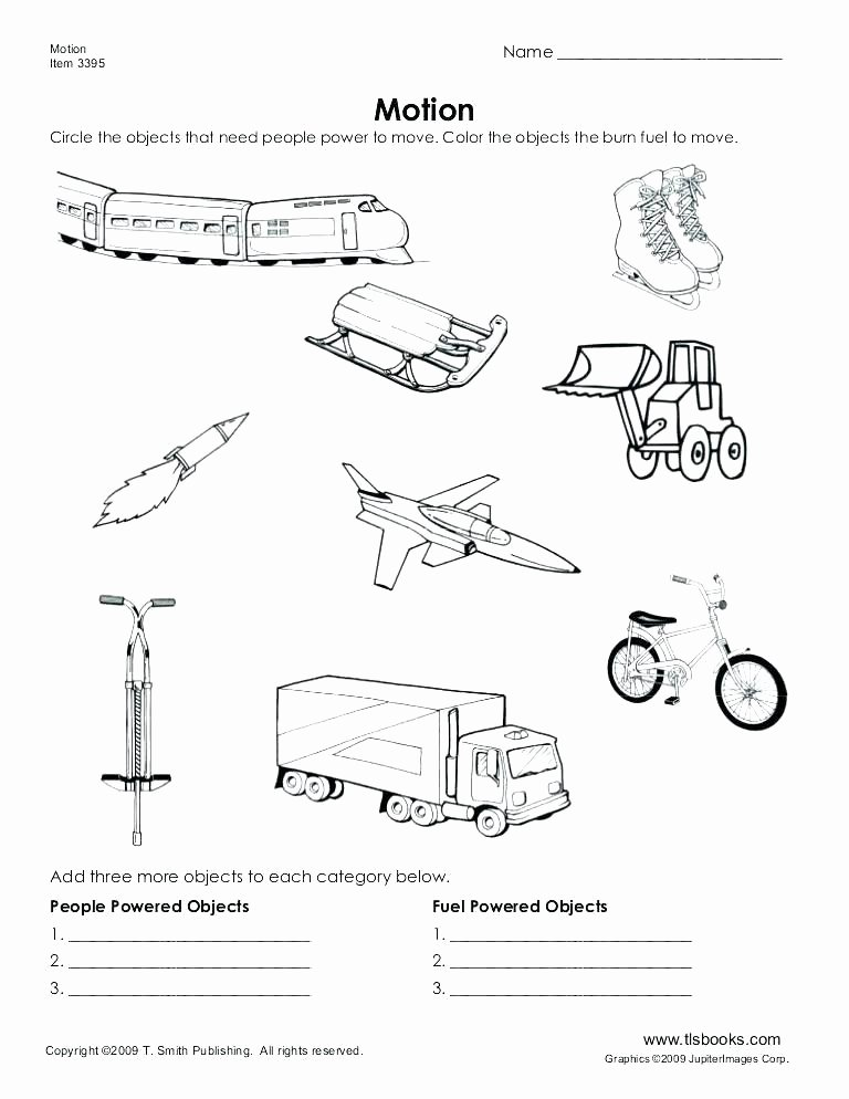 Science force and Motion Worksheets Kindergarten Science Worksheet Grade 2 Worksheets Body Parts
