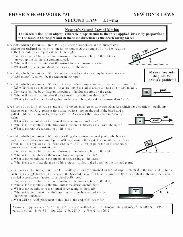 Science forces and Motion Worksheets force Worksheets for 2nd Grade