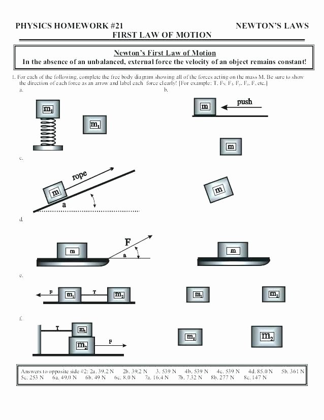 Science forces and Motion Worksheets Free Printable Grade Science Worksheets forces Motion
