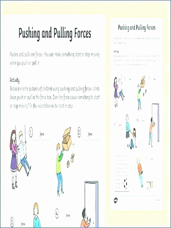 Science forces and Motion Worksheets Grade Science force and Motion Worksheets Gravity for