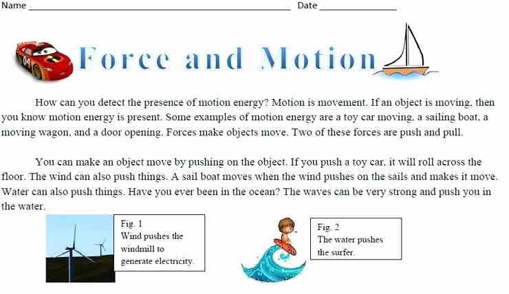 Science forces and Motion Worksheets Physical Science force and Motion Worksheets forces