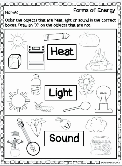 Science sound Worksheets forms Energy Heat Light sound Super Second Grade forms
