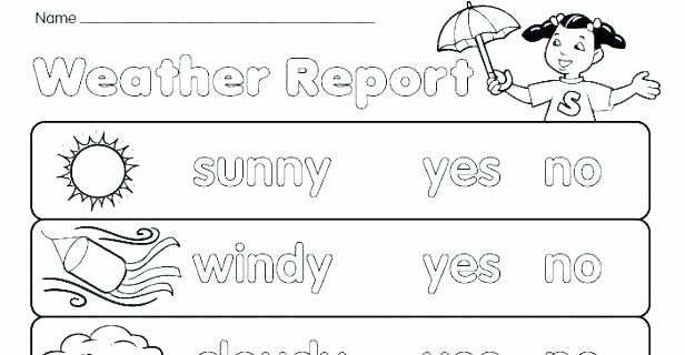 Science Weather Worksheets Weather Worksheets for Preschool thermometer Printable