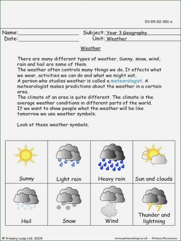 Science Weather Worksheets Weather Worksheets