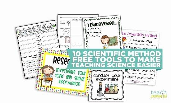 Scientific Method Worksheets 5th Grade 10 Scientific Method tools to Make Science Easier Teach Junkie