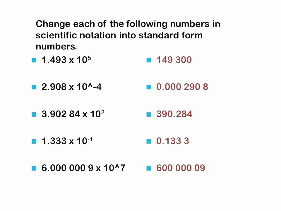 Scientific Notation Chemistry if8766 Scientific Notation Worksheet with Answers