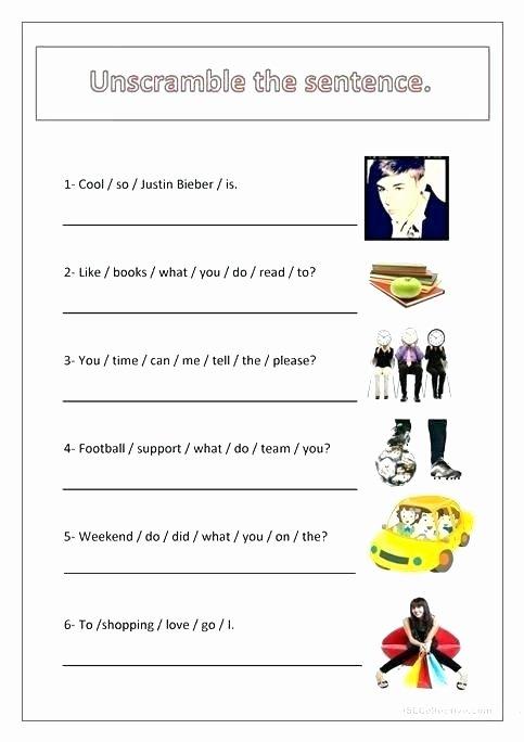 Scrambled Sentences Worksheets 3rd Grade Bilingual Plus Worksheet 4 Printable Worksheets Grocery