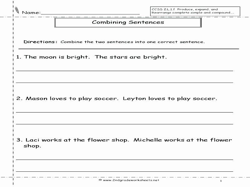 Scrambled Sentences Worksheets 3rd Grade Jumbled Sentences Worksheets for Grade 1