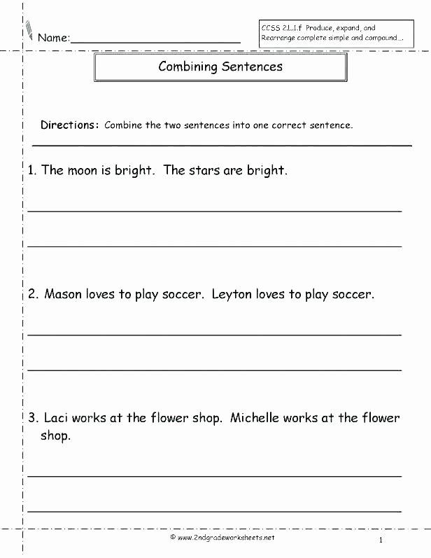 Scrambled Sentences Worksheets 3rd Grade Practice Worksheets Four Kinds Sentences Selfie Lions