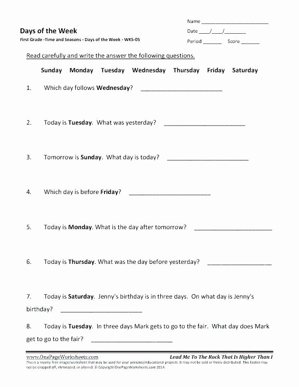 Seasons Worksheets for First Grade 4th Grade Weather Worksheets