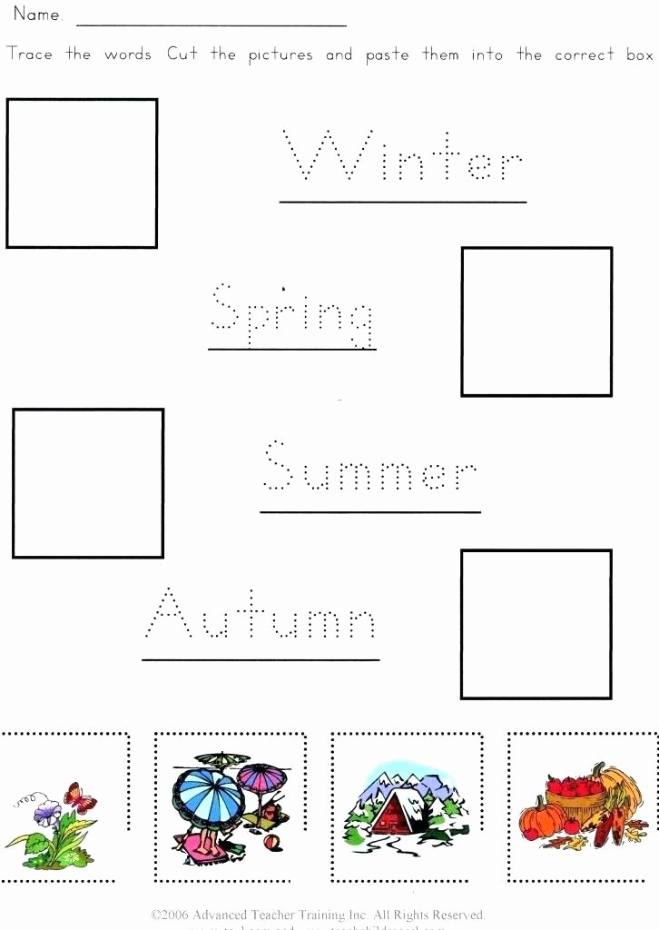 Seasons Worksheets for First Grade Seasons Worksheets for Kindergarten Fall Season Worksheets