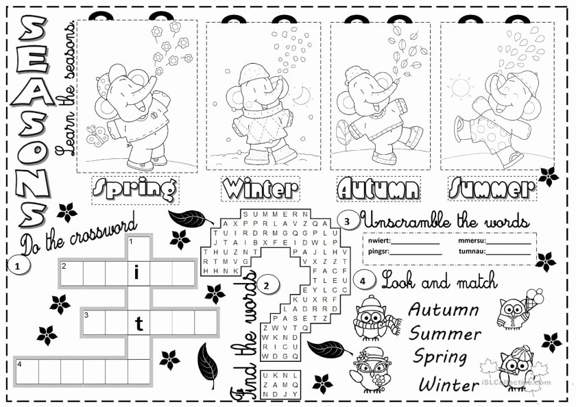 Seasons Worksheets for First Grade Worksheets Seasons Worksheet Season Activity Sheets for