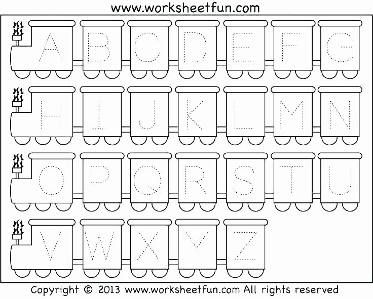 Seasons Worksheets for Kindergarten Free Printable Alphabet Letter Tracing Worksheets