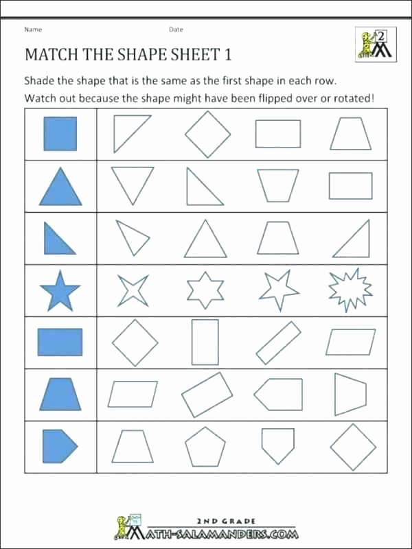 Second Grade Geometry Worksheets Lovely Geometry Worksheets for Grade 3 Shapes Web Design Students 1st