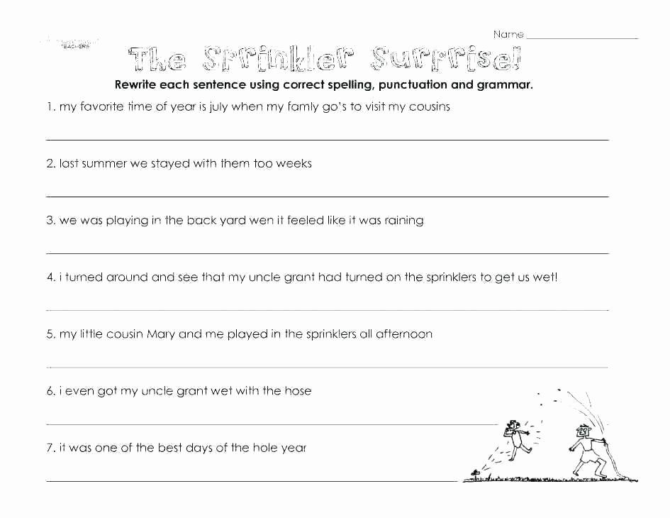 Second Grade Grammar Worksheets 3rd Grade Grammar Review Worksheets