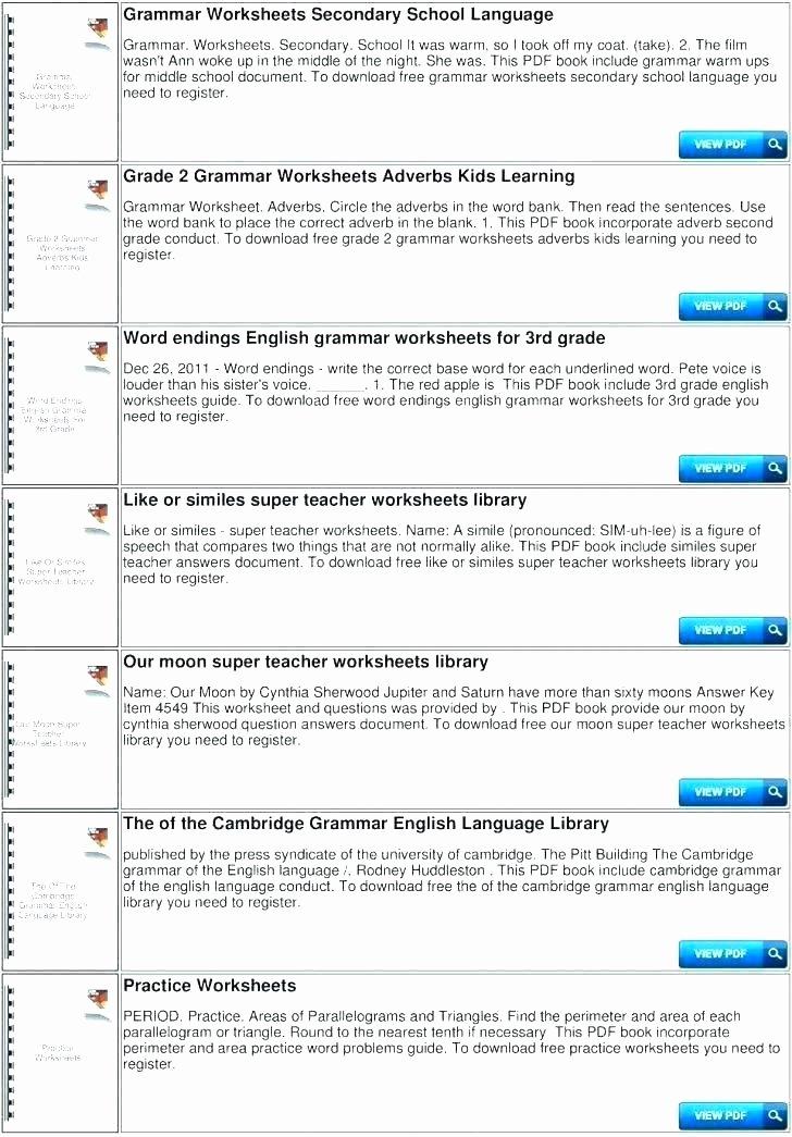 Second Grade Grammar Worksheets Free Grammar Worksheets Archives Den and Writing 3rd Grade Pdf
