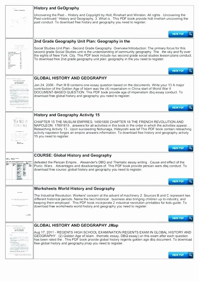 Second Grade History Worksheets Free World History Worksheets