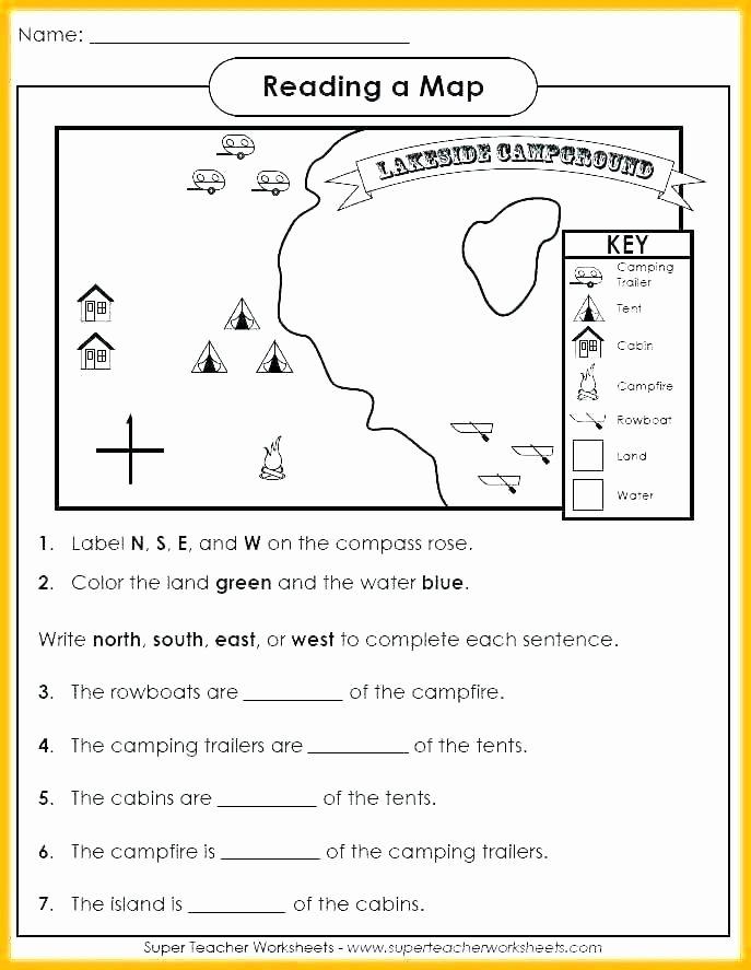Second Grade Map Skills Worksheets Map Skills Worksheets