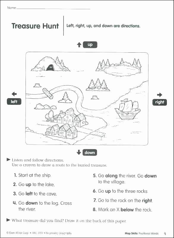 Second Grade Map Skills Worksheets social Skills Worksheets Listening Kindergarten Worksheet