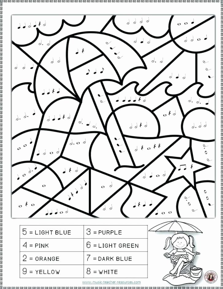 Second Grade Math Coloring Worksheets Math Coloring Page for 2nd Grade Line Addition