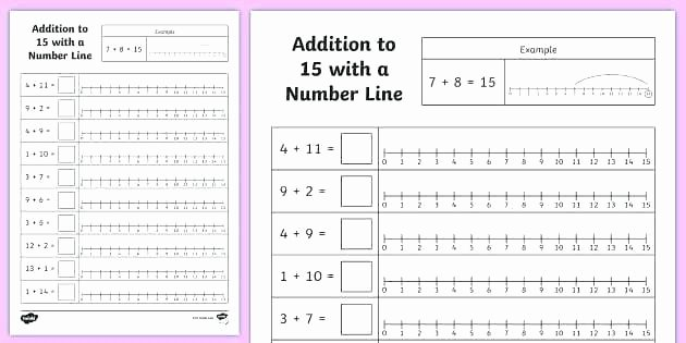 Second Grade Number Line Worksheets Number Line Subtraction Worksheets