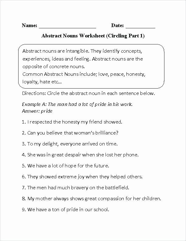 Second Grade Pronoun Worksheets Pronoun Worksheets 1st Grade