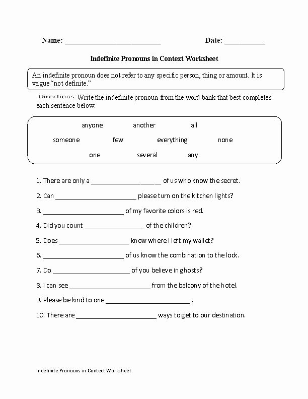 Second Grade Pronouns Worksheet Pronoun Practice Worksheets