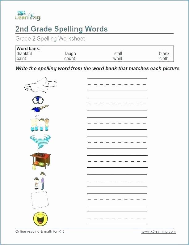 Second Grade Spelling Worksheets Fifth Grade Spelling Worksheets Words List 4 for Download by