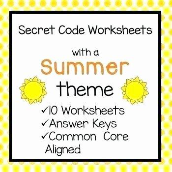Secret Code Math Worksheets Lovely Summer Math Worksheets