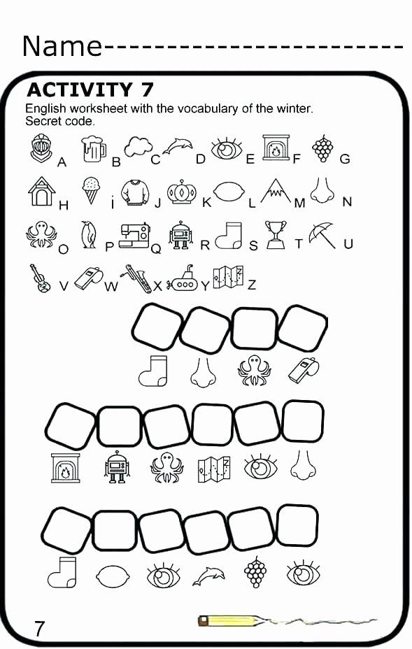 Secret Code Math Worksheets New Secret Codes for Kids Worksheets Simple Design Tab In Excel