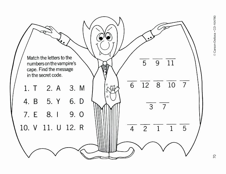 Secret Code Worksheets Pdf Dracula Worksheets