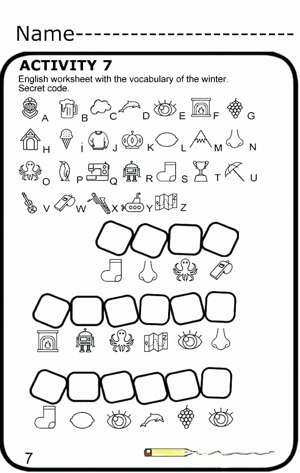 Secret Code Worksheets Pdf Secret Codes for Kids Worksheets Decoding Design Tab In