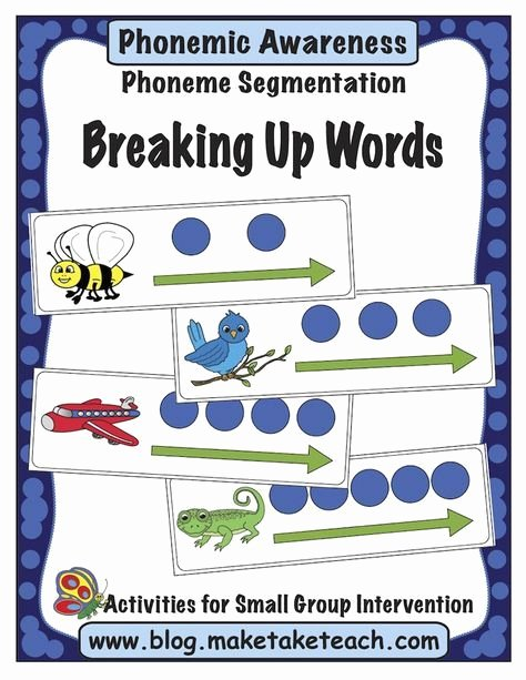 Segmenting Words Worksheets 8 Great Ideas for Teaching Segmenting and Blending