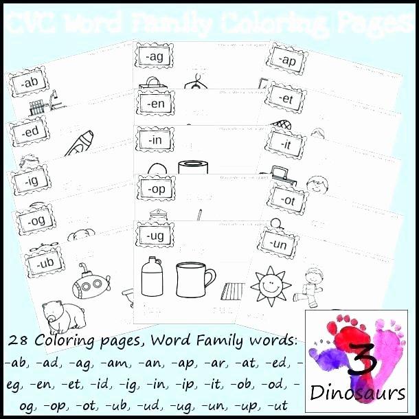 Segmenting Words Worksheets All Word Family Worksheets for Kindergarten Free Printable