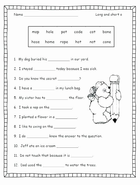 Segmenting Words Worksheets Collection Segmenting Words Worksheets Letter O for