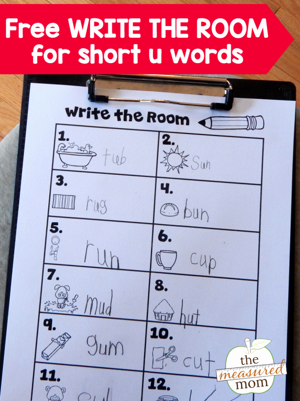 """Segmenting Words Worksheets Free """"read the Room"""" Activity for Short U Words"""