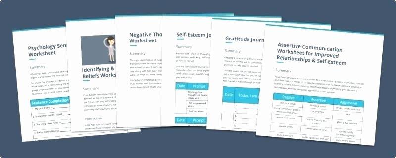 Self Esteem Activities Worksheets Improving Self Esteem Worksheets Self Confidence Worksheets