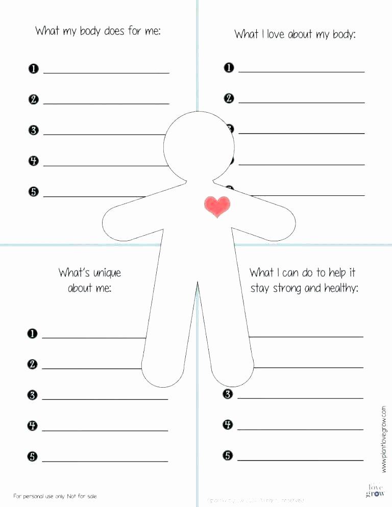 Self Esteem Activities Worksheets Printable Self Esteem Worksheets for Kids Teens and Adults 3