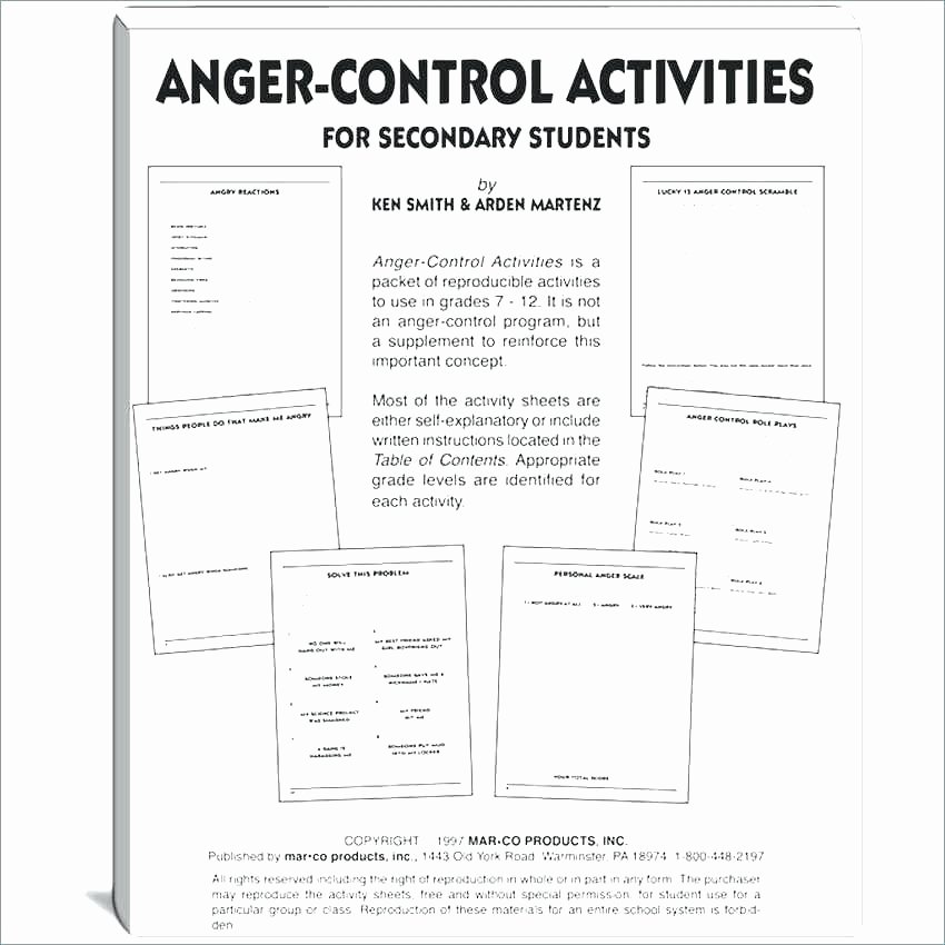 Self Esteem Activities Worksheets Self Control Worksheets